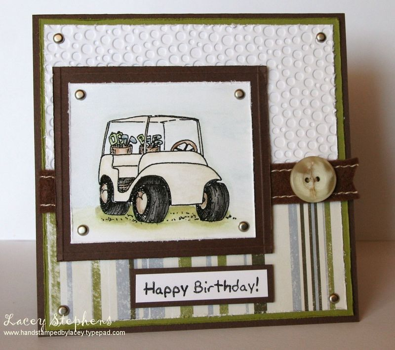 Dude Card 1. I love how the cuttlebug Tiny Bubbles embossing folder on the