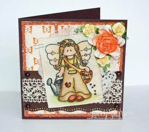 Bethany Angel_Orange Brown Circle_Lacey 1