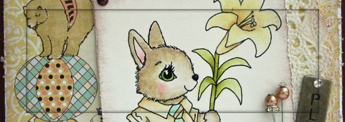 Spring Bunny_Distress_Lacey 1