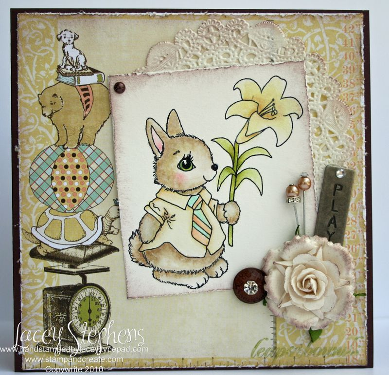 Spring Bunny_Distress_Lacey 2