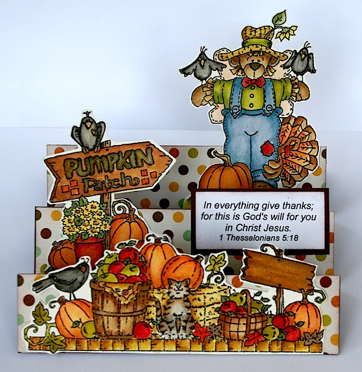 Thanksgiving Stair Step Card1