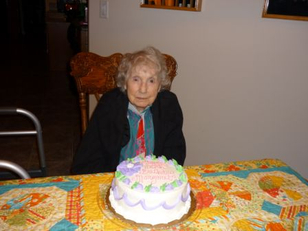 Margaret with cake