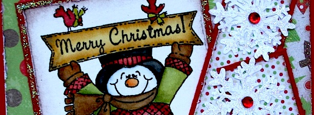 Snowman with sign 1