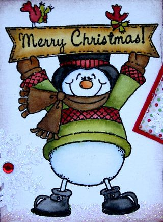 Snowman with sign3