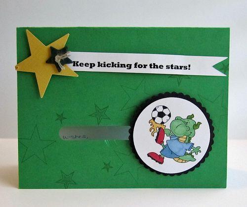 Soccer card for Luke