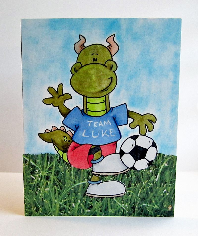 Soccer card for Luke 2