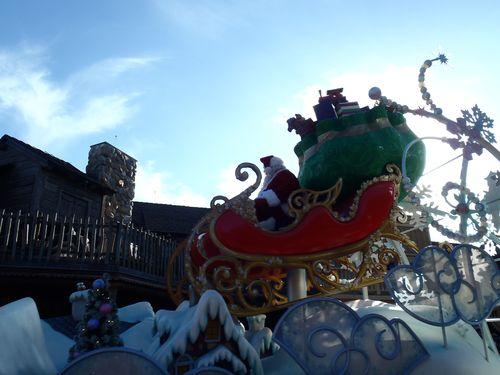 Santa in the parade