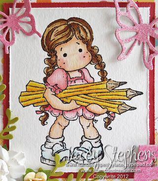 Tilda with pencils 2