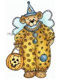 Angel Bear Clown Costume