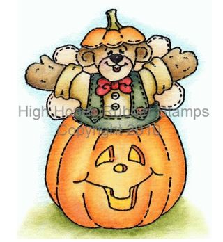 Angel Bear Jumping Out Pumpkin