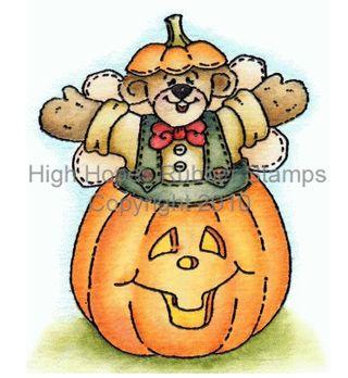 Angel Bear Jumping Out Pumpkin