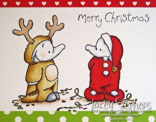 Santa and Rudolph 2