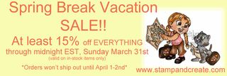 S&C Spring Break Sale