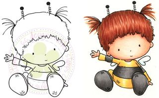 C.C. Designs Honey Bee-trice Rubber Stamps