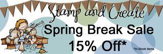 S&C 15% Spring Break SALE Banner