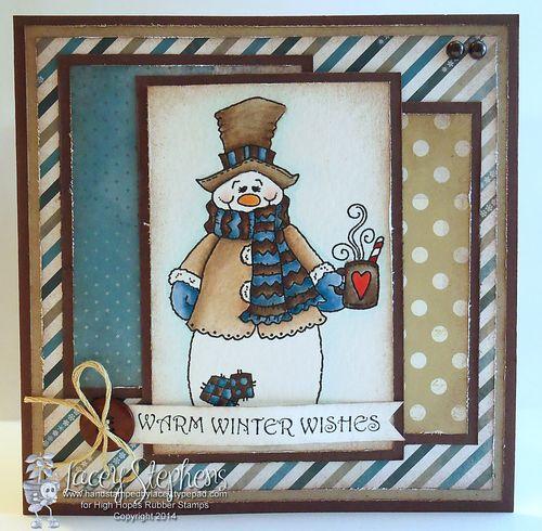 Snowman cuppa 1