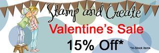 S&C 15% Valentine SALE Banner