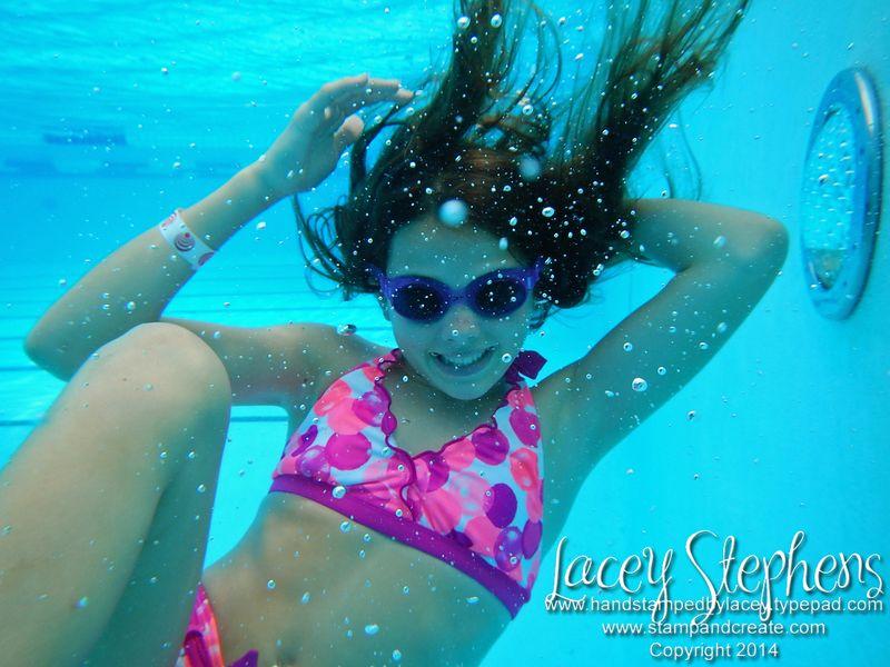Ansley underwater