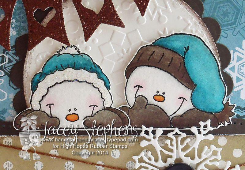 Peeking Snowmen 2